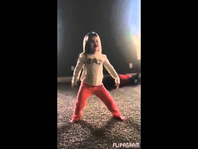Dog Copies Little Girl's Cartwheel